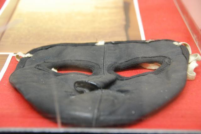 кожанная маска для летчиков