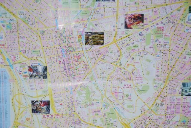 Карта Гонконга на китайском